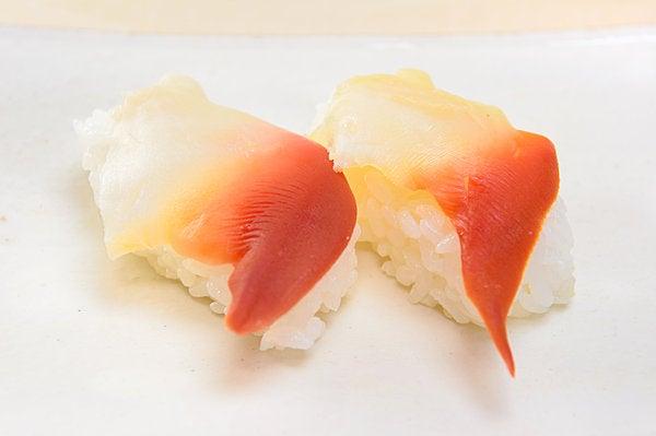 ホッキ貝のにぎり寿司。ずーしーほっきーの\u201cネタ元