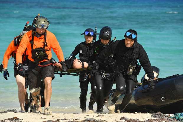 沖縄で進む自衛隊と米軍の一体化。2016年11月に沖縄で行われた日米共同訓練は、安全保障関連法の内容を踏まえた初めての共同訓練となった(撮影・写真部・東川哲也)