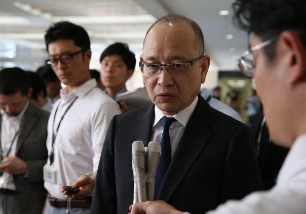 商工中金の安達健祐社長(元経済産業事務次官) (c)朝日新聞社