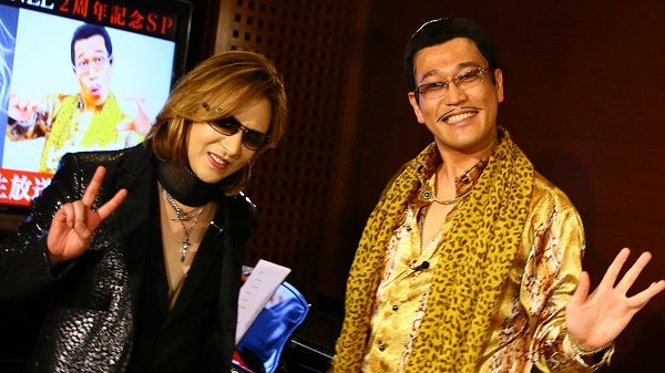 YOSHIKI、ニコ動特番でピコ太郎と「Forever Love × PPAP」即興コラボを披露
