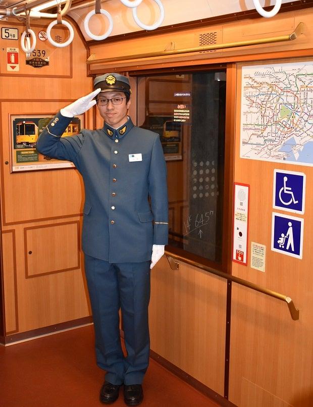 開通当時の制服を再現