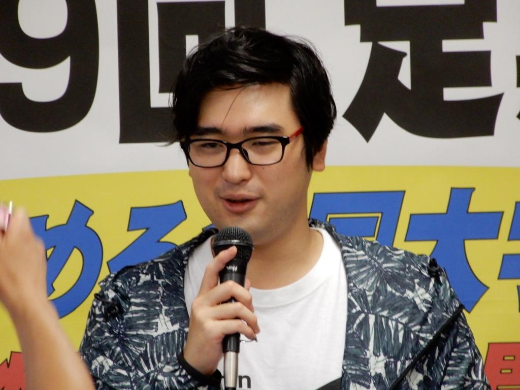 全学連新委員長の高原恭平氏(撮影/小林哲夫)