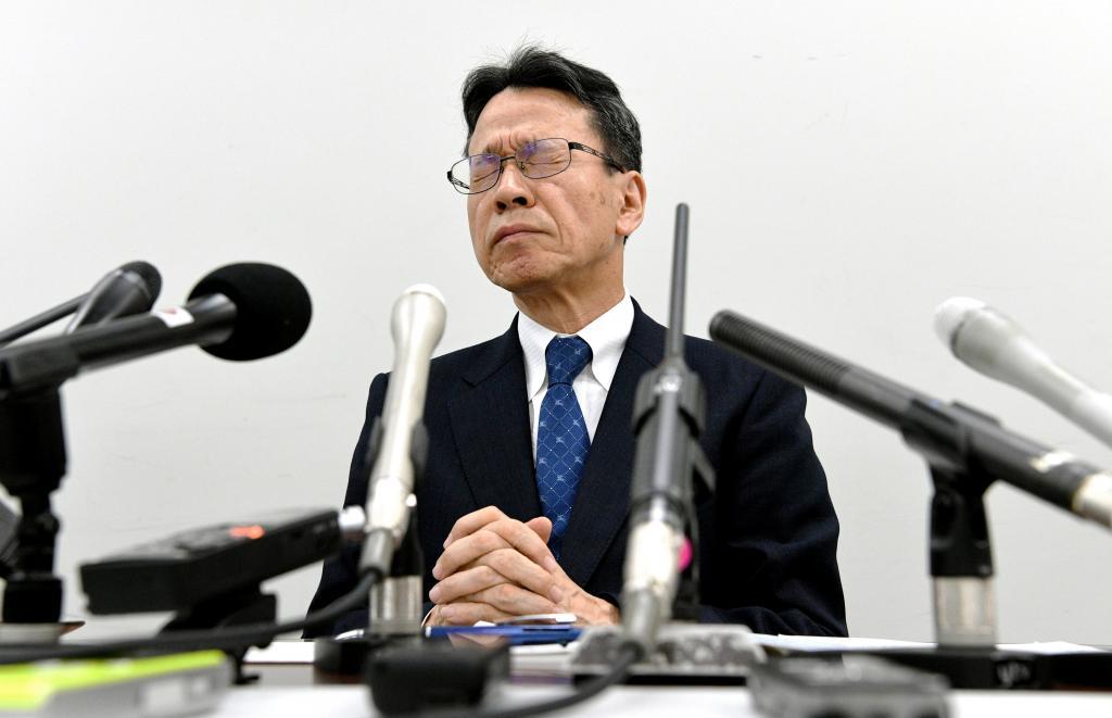 会見して金品を受け取ったことを認めた関西電力の岩根茂樹社長 (C)朝日新聞社