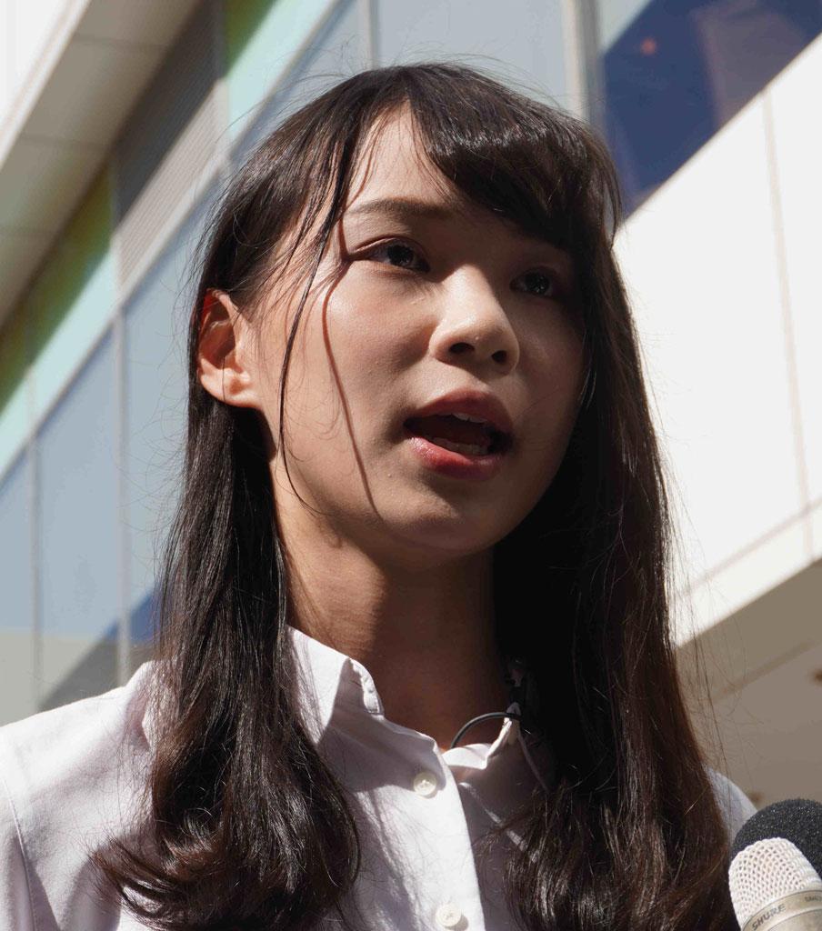 アグネス・チョウ/1996年生まれ。2014年の民主化デモ「雨傘運動」では「女神」と呼ばれた。香港衆志常務委員。昨年のデモでは香港当局に拘束された (c)朝日新聞社