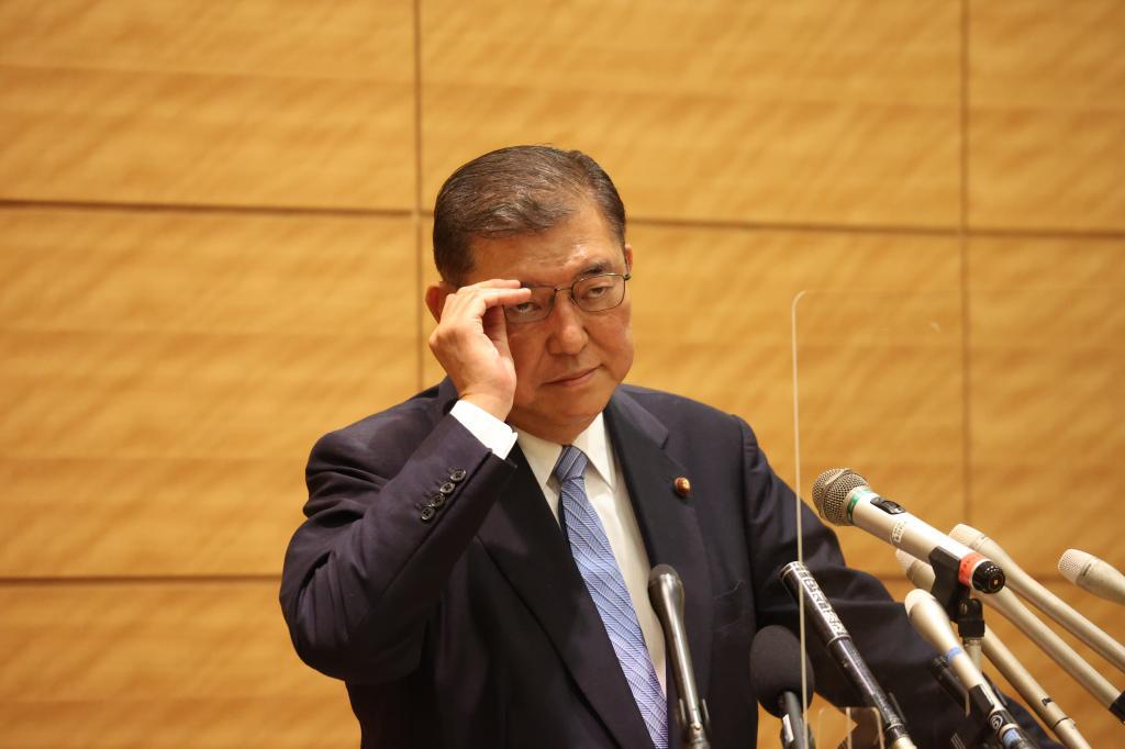 総裁選の不出馬を表明した石破茂氏(C)朝日新聞社